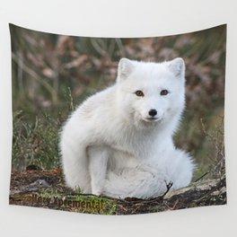 Polar Fox by Anne Elisabeth Wall Tapestry