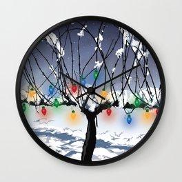 Holidays in the Vineyard Wall Clock