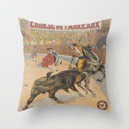 Vintage poster - Course de Taureaux Throw Pillow