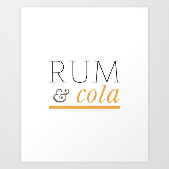 Rum & Cola Art Print