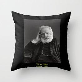 Nadar. Portrait of Victor Hugo 2 Throw Pillow