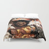 x men Duvet Covers featuring X-MEN by Thorin