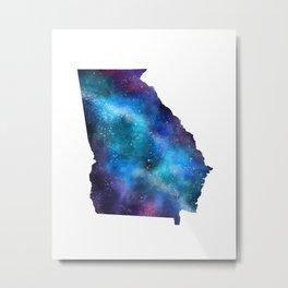Georgia State Galaxy Star Art Metal Print