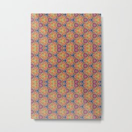 hippie - pattern colorfull Metal Print