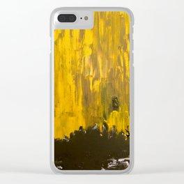 Golden Dream Clear iPhone Case