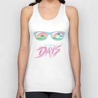 hollywood Tank Tops featuring Hollywood Days by Jackalope Academy