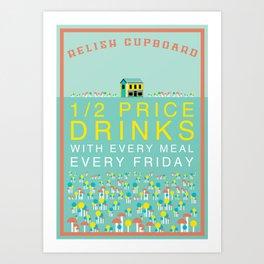 Half Price Drinks Art Print