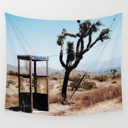 MOJAVE DESERT PHONE BOOTH Wall Tapestry