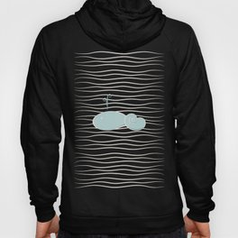 whale in the waves Hoody