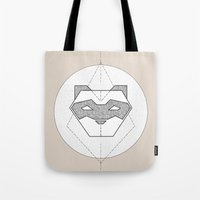 ferret Tote Bags featuring Ferret Design by Cheeky Ferret