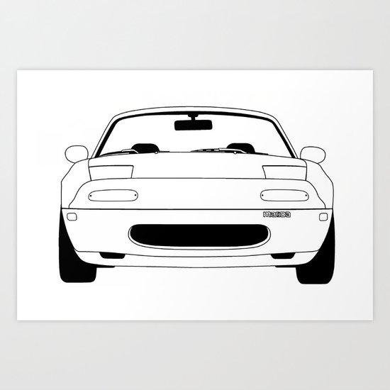 NA Miata/MX-5 Art Print