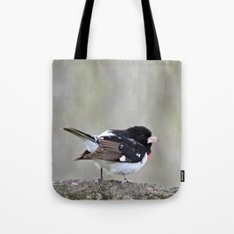 A Touch of Class: Rose-Breasted Grosbeak Tote Bag