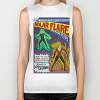 comic book Biker Tanks featuring Comic Book Poster by Not Too Shabby