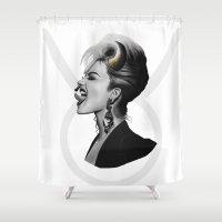 taurus Shower Curtains featuring Taurus by BeckiBoos