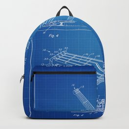 Guitar Patent - blueprint Backpack