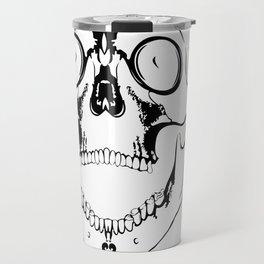 screaming skull Travel Mug