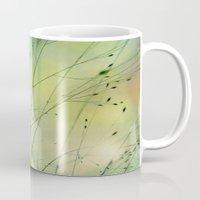 grass Mugs featuring Grass by Lena Weiss
