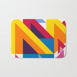 Abstract modern geometric background. Composition 20 Bath Mat