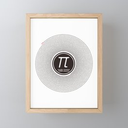 Circular constant 10000 digits Framed Mini Art Print