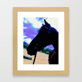 Chase Profile on Blue Sky Framed Art Print