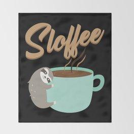 Sloffee | Coffee Sloth Throw Blanket
