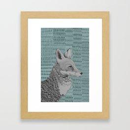Foxportrait Framed Art Print