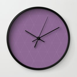 Classic | Purple Triangles Wall Clock