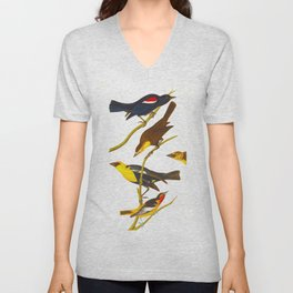 Nuttall's Starling, Yellow-headed Troopial, Bullock's Oriole Unisex V-Neck