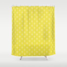 Hearts and Arrows - Blazing Yellow Shower Curtain