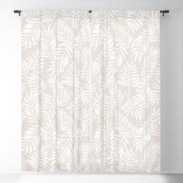 Tropical Palm Leaves - Palm Leaf Pattern - Sandy Beige Blackout Curtain