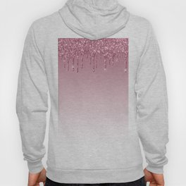 Pink Dripping Glitter Hoody