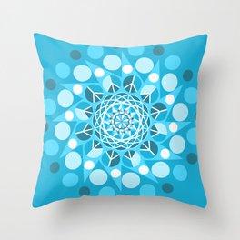 Peace Moon Mandala Throw Pillow