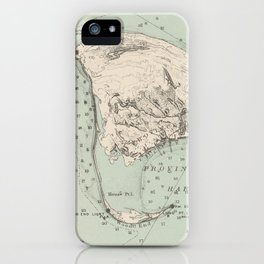 Vintage Map of Provincetown MA (1892) iPhone Case
