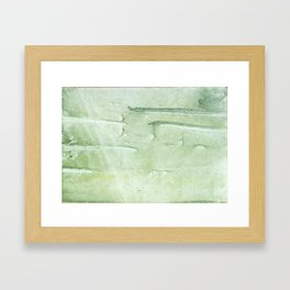 Gently green painting Framed Art Print