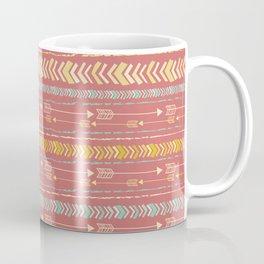 Red Arrow Pattern Coffee Mug