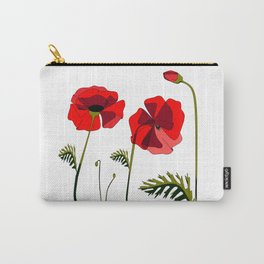 Poppies Ascending (transparency) Carry-All Pouch