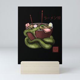 snake ramen Mini Art Print