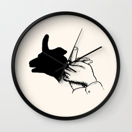 shadow of the hand Wall Clock