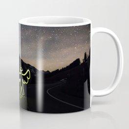 Angel on the Road Before the Night Sky Coffee Mug