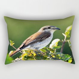 One Bird in the Bush (just one) Rectangular Pillow