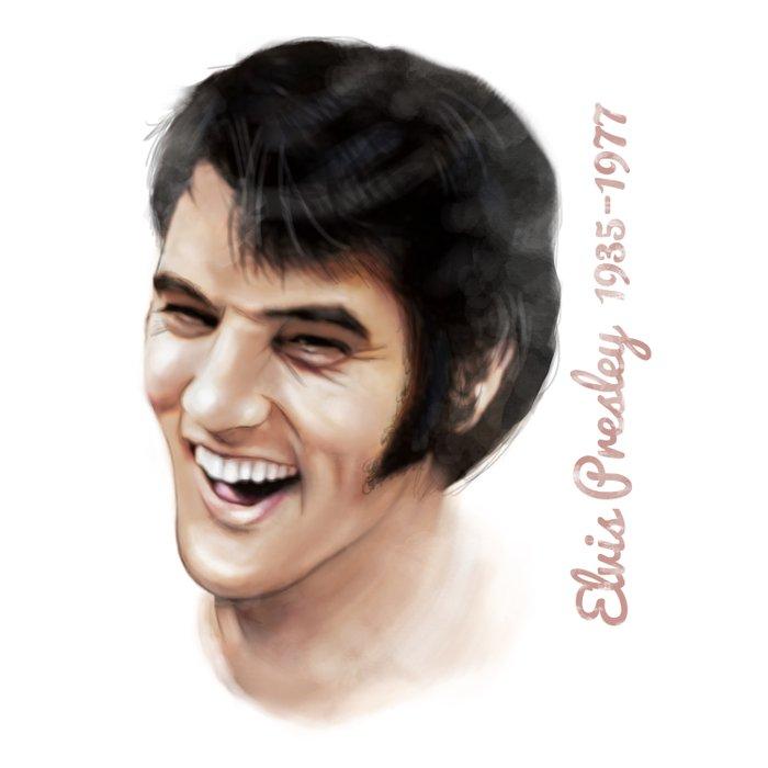Elvis Presley Tribute Portrait Duvet Cover
