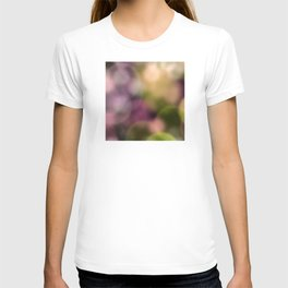 Contemporary Bokeh Dots Design T-shirt