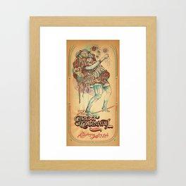 The Astonishing Juggling Lady Framed Art Print