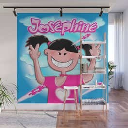 Josephine with pink shirt! Wall Mural