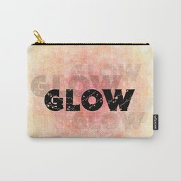 Glow (black on orange and yellow) Carry-All Pouch