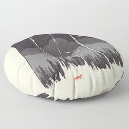 Winter Mountain Weather... Floor Pillow