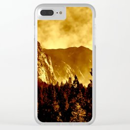 Mountains on Fire in California Clear iPhone Case