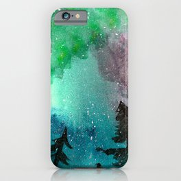 Northern Lights - Mint Green Palette iPhone Case