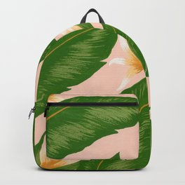 Pink Bird Of Paradise Print Backpack