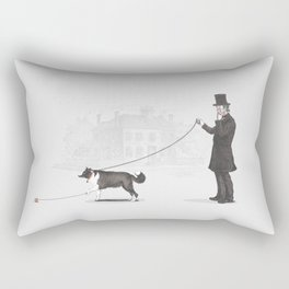 Walking the Dog Rectangular Pillow